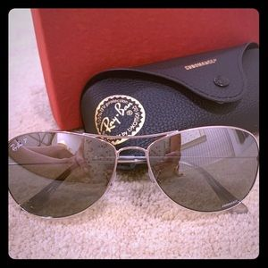 Ray Ban Chromance Aviator Sunglasses